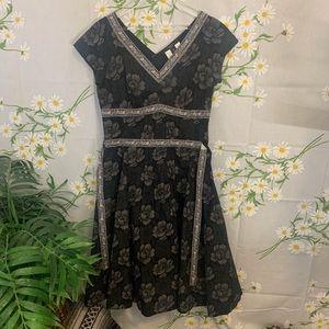 Weekend Max Mara grey floral sleeveless midi dress